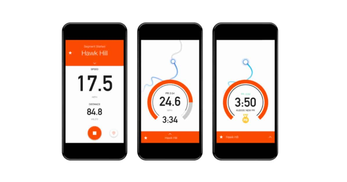 application smartphone strava