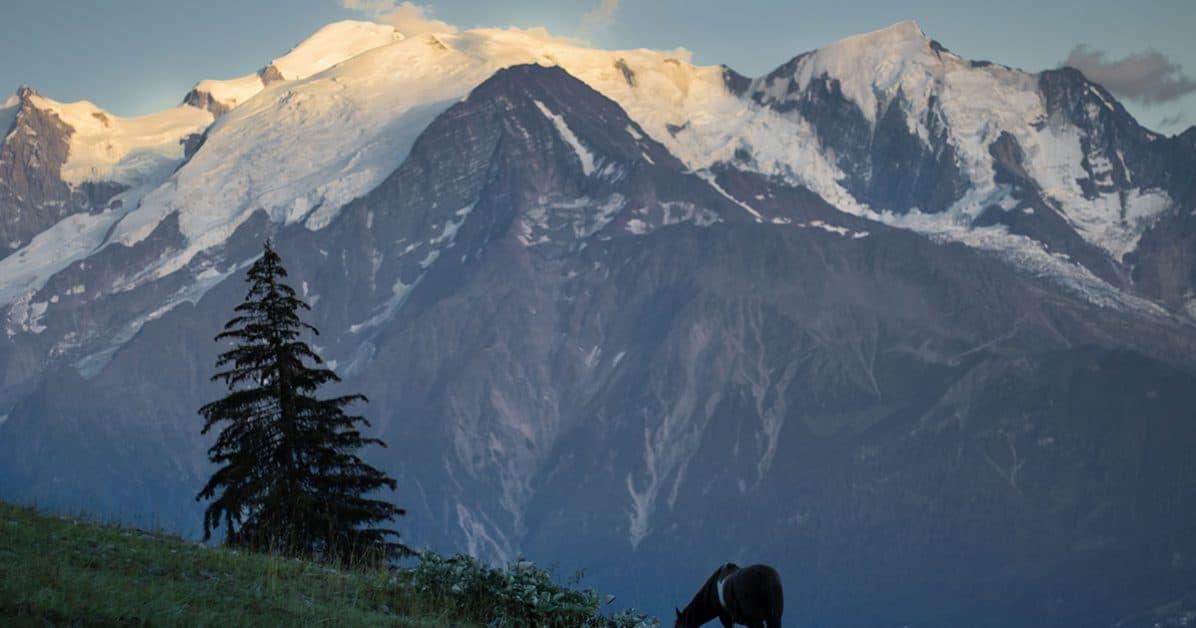 un soir d'été autour du Mont Blanc