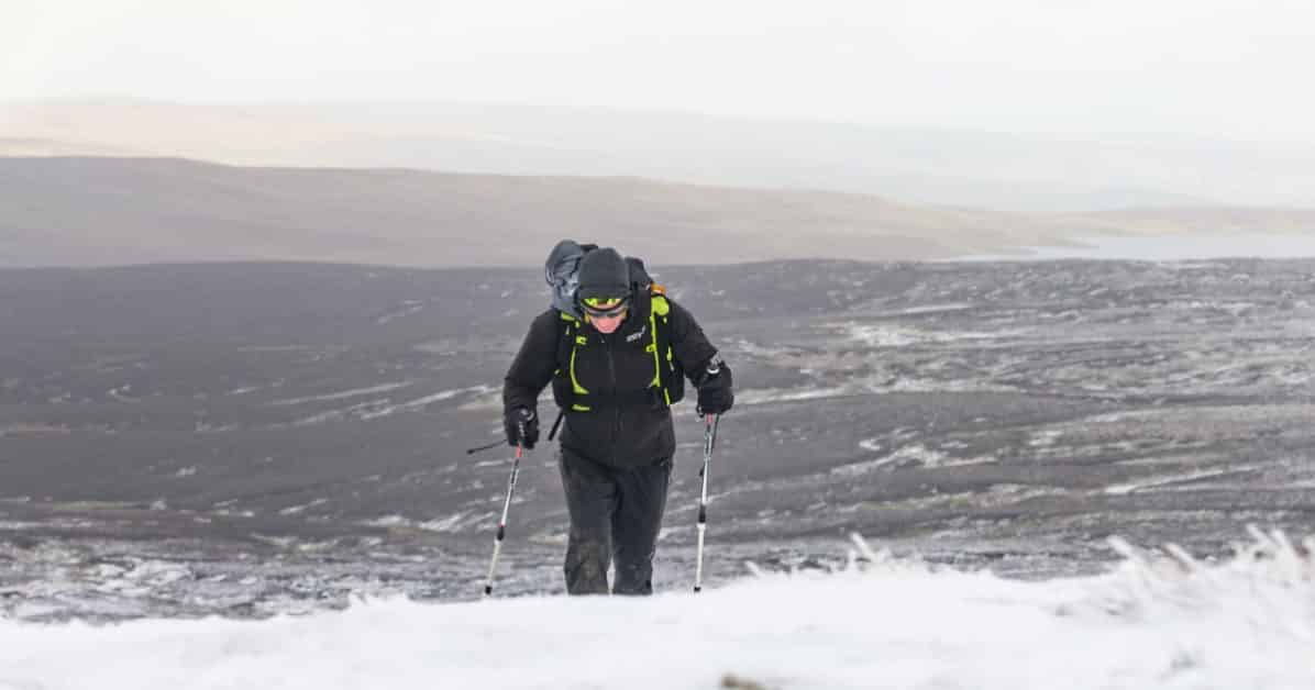 montain spine race neige