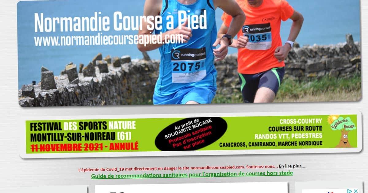 Normandie Course à Pied Calendrier 2021 Calendrier 2020 des trails en Normandie
