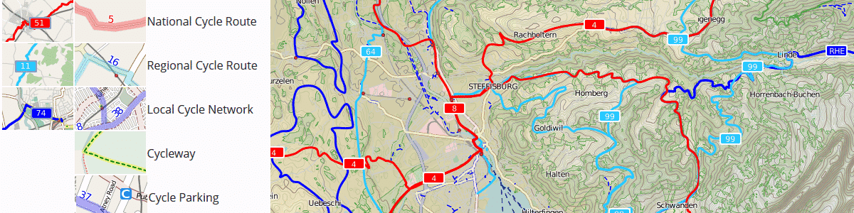 open cycle map suisse