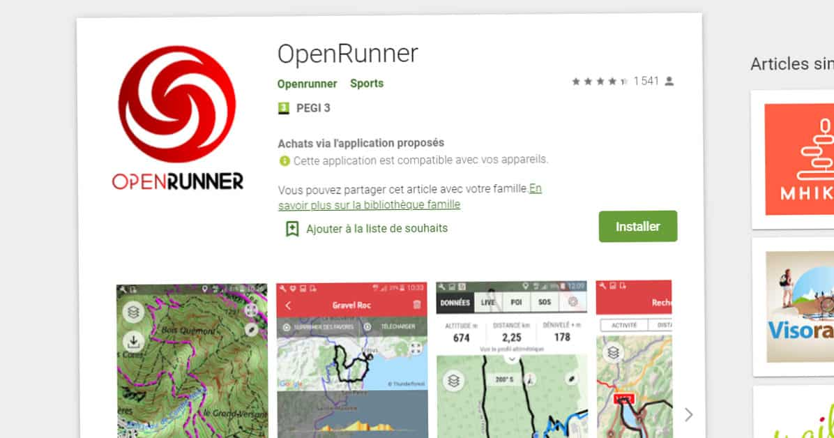 Open runner sous Android