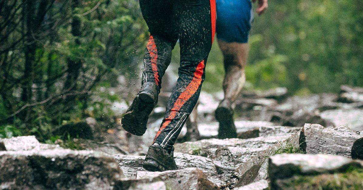 sous la pluie en trail