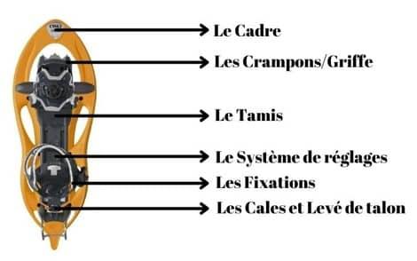 composants d'une raquette